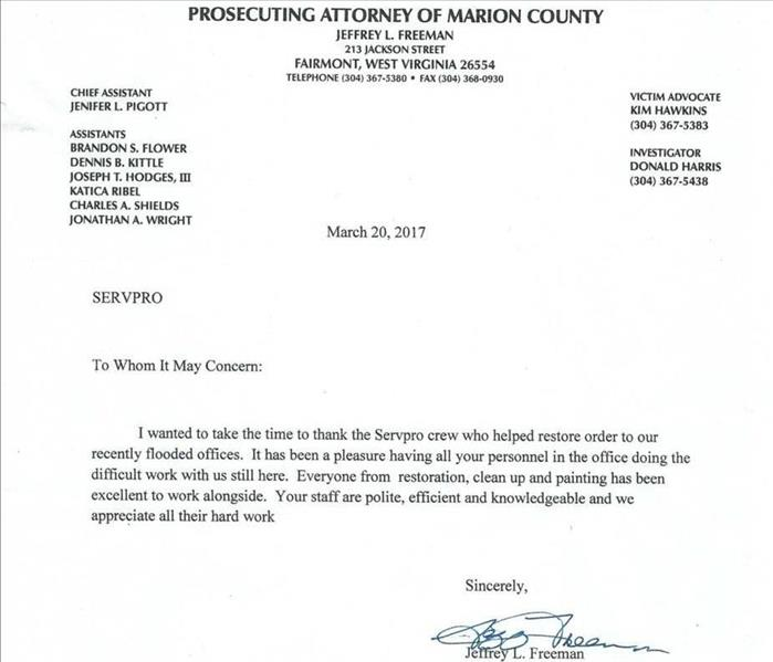 Testimonial from Prosecuting Attorney of Marion County